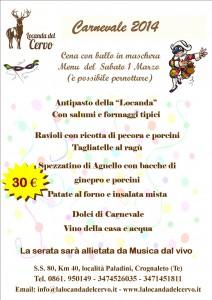 menu carnevale